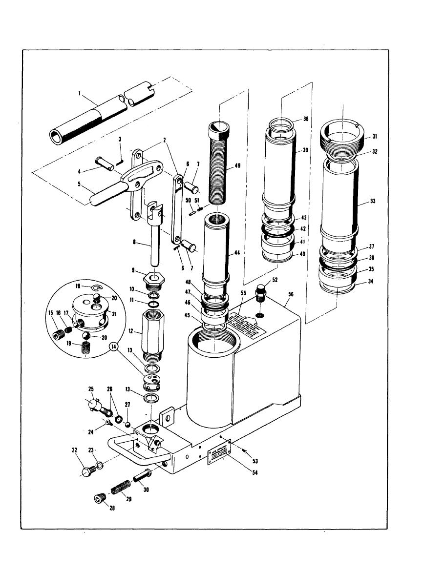 hydraulic bottle jack diagram