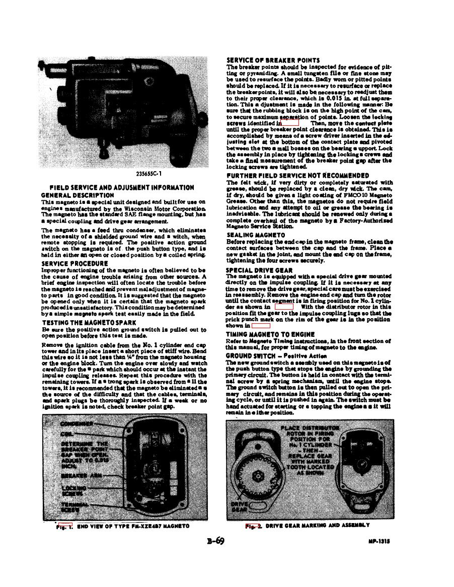 Fairbanks morse type fm xze4b7 4 magneto wis motor no y 98 c s1