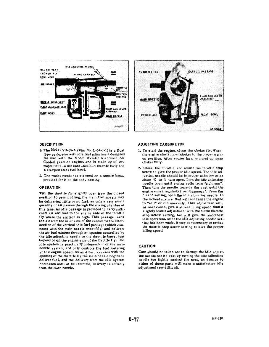 Marvel Schebler Carburetor Parts Manual